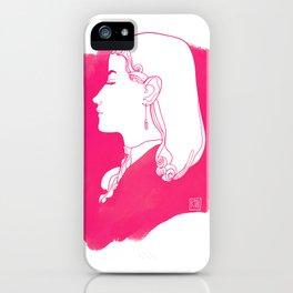 Pink Victorian iPhone Case