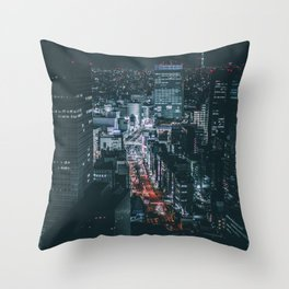 Big city lights Throw Pillow