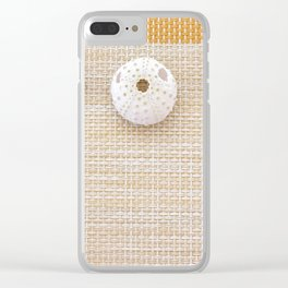 Nautical design urchins and seashells Clear iPhone Case