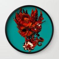 karma Wall Clocks featuring Karma by angrymonk