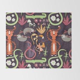 Rain forest animals 002 Throw Blanket