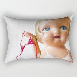 Itsy Bitsy Teenie Weenie Polka Dot Gidget Bikini Rectangular Pillow
