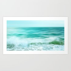 Aqua Beach Waves Art Print