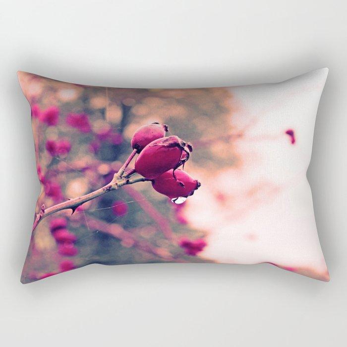 Berrys in the November rain Rectangular Pillow