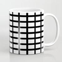 grid Mugs featuring grid by Dore