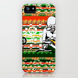 Ghandi and his Spinning Wheel iPhone Case