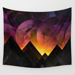 Whimsical mountain nights Wall Tapestry