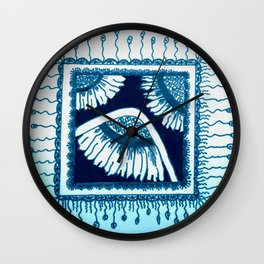A Moment of Blue Wall Clock