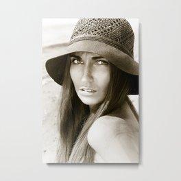 Woman in hat Metal Print