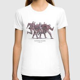 Running figures T-shirt