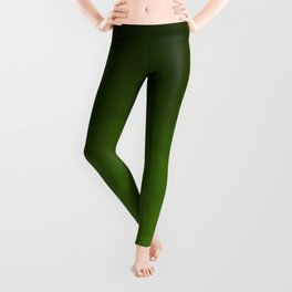 Dark Rich Forest Green Ombre Leggings