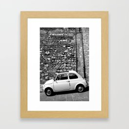 Fiat in Tuscany Black and White Framed Art Print