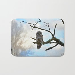 Magical Winter Owl Bath Mat