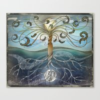 Canvas Prints featuring dichotomy of the rotation by brenda erickson