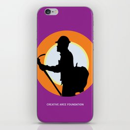 Creative Acre Foundation (CAF) Support poster iPhone Skin