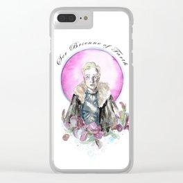 Ser Brienne The Knight Clear iPhone Case
