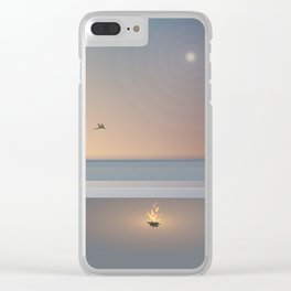 Evening Beach Bonfire Clear iPhone Case