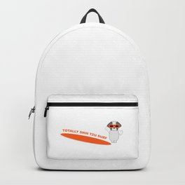 Totally Shih Tzu Surf Single Dog Backpack