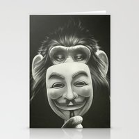 vendetta Stationery Cards featuring Anonymous by Dr. Lukas Brezak