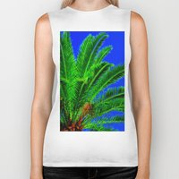 palm tree Biker Tanks featuring Palm Tree by Phil Smyth