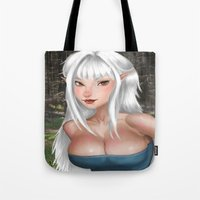 elf Tote Bags featuring Elf by KyokoLunar