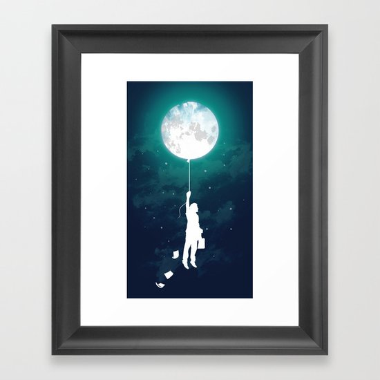 Burn the midnight oil Framed Art Print