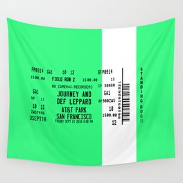 Concert Ticket Stub - Journey at AT&T Park - GREEN Wall Tapestry