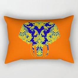 Elephant head damasks thermal color Rectangular Pillow