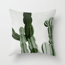 Vintage Cactus Print I Throw Pillow