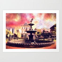 Fountain Square Park Art Print