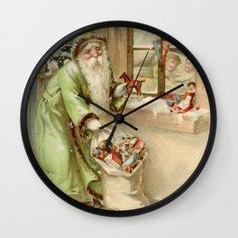 Santa Claus at the Window Wall Clock