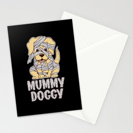 Mummy Dog Pet Lover Paws Halloween Party Stationery Cards