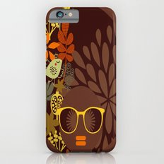 Afro Diva : Sophisticated Lady Retro Brown Slim Case iPhone 6s