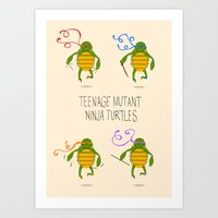 teenage mutant ninja turtles Art Prints featuring teenage mutant ninja turtles by Lionel Hotz