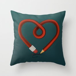 DRAW/LOVE Throw Pillow