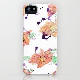 blazz studios: Watercolour Flowers iPhone Case