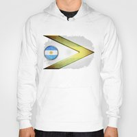 argentina Hoodies featuring Argentina by ilustrarte
