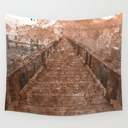 Acrylic Sepia Pier Wall Tapestry