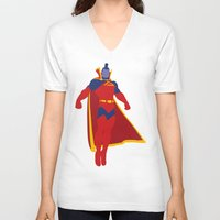 gladiator V-neck T-shirts featuring Confidence!  Kallark, The Gladiator by Timmy D. Matias