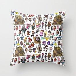 Cute Gravity Falls Doodle Throw Pillow