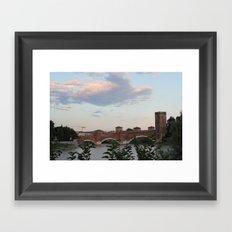 By the Bridge, Verona Framed Art Print