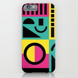 Neo Memphis Pattern 2 - Abstract Geometric / 80s-90s Retro iPhone Case