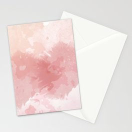 Pink watercolor background Paola Wise Stationery Cards