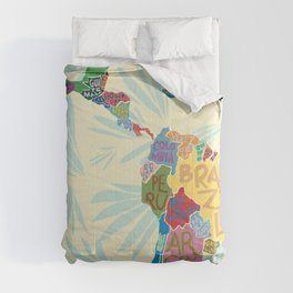 Map. Mapa. Carte. Comforters