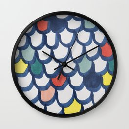 Marker tiles Wall Clock