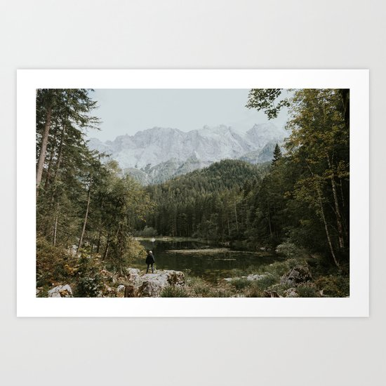 Mountain lake vibes II - Landscape Photography Art Print