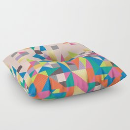 80s Quilt Floor Pillow