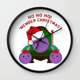 Member christmas Wall Clock