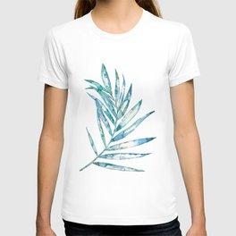 Blue Fern Leaf - Ink Painting - Botanical T-shirt