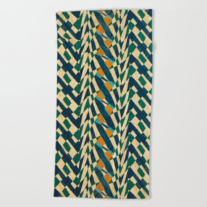 Braiding Colors Beach Towel